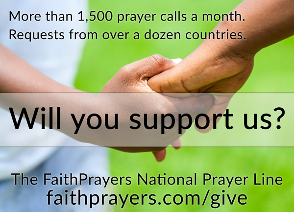 Will You Support FaithPrayers?