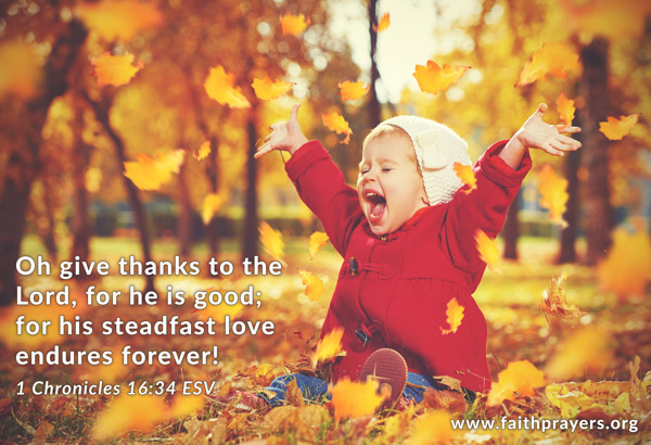 Happy Thanksgiving from FaithPrayers!